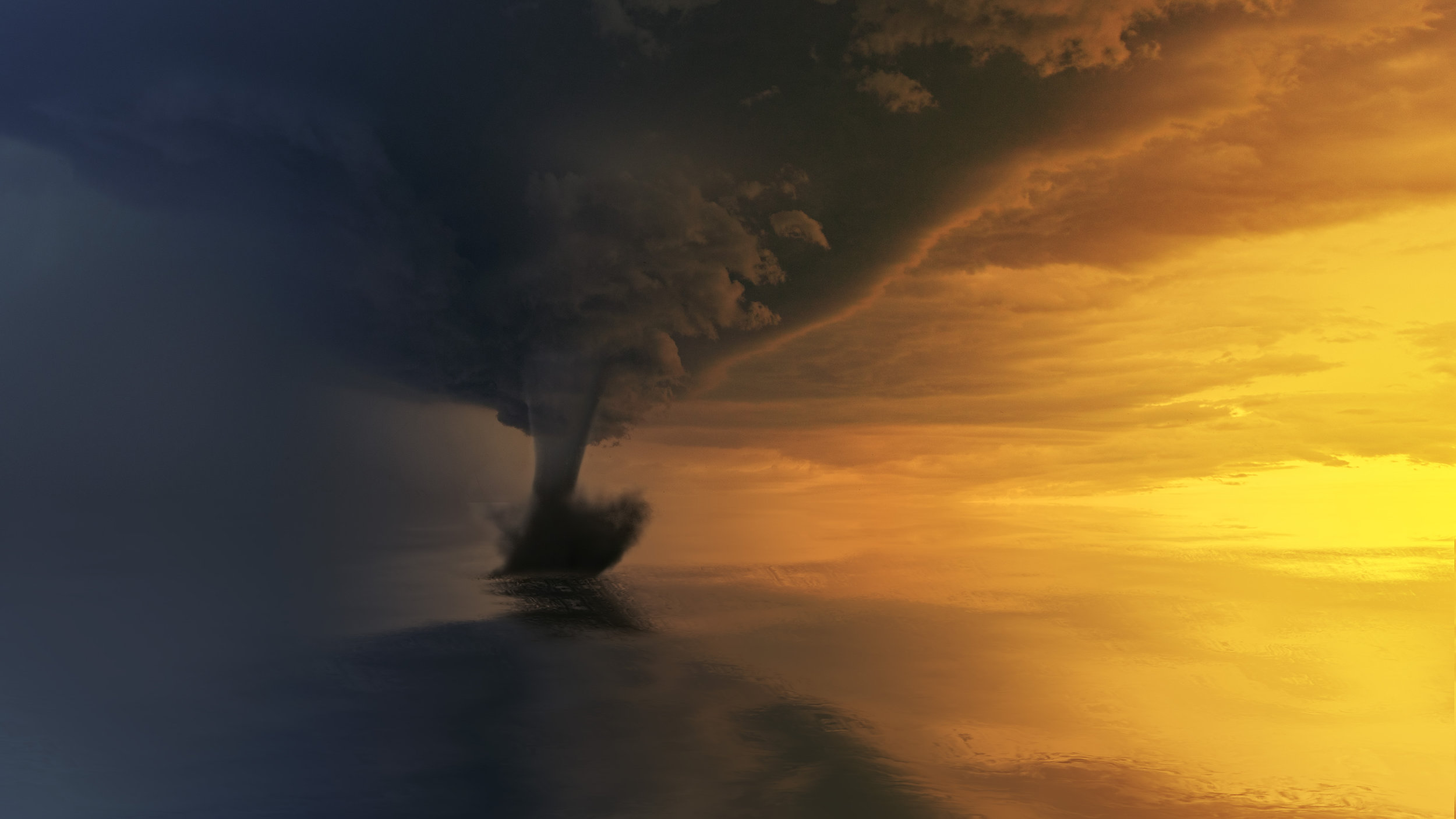 Canva - Tornado on Body of Water during Golden Hour.jpg