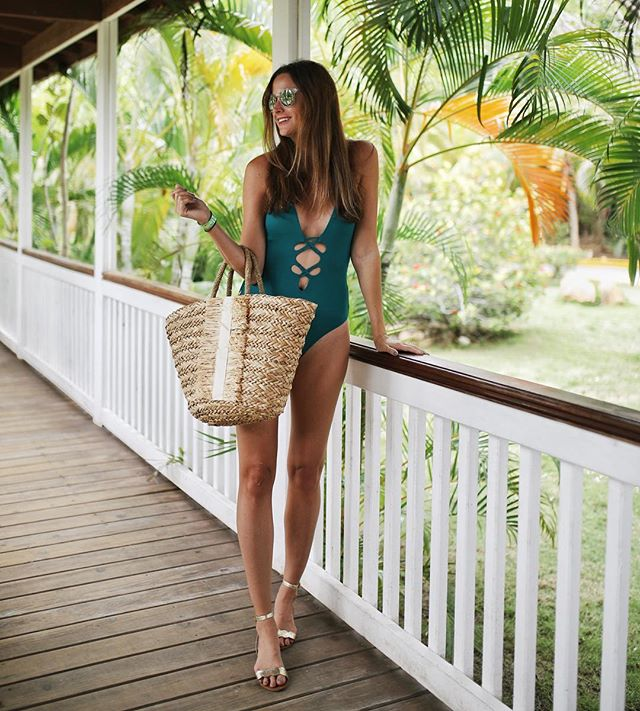 Roatan, Honduras - Our girl, Amanda Miller, knows where to rock a one piece in style.  Our Paradise bikini looks right at home in Honduras.  When you get past your jet-lag, run - don't walk - to the Blue Harbor Tropical Arboretum.