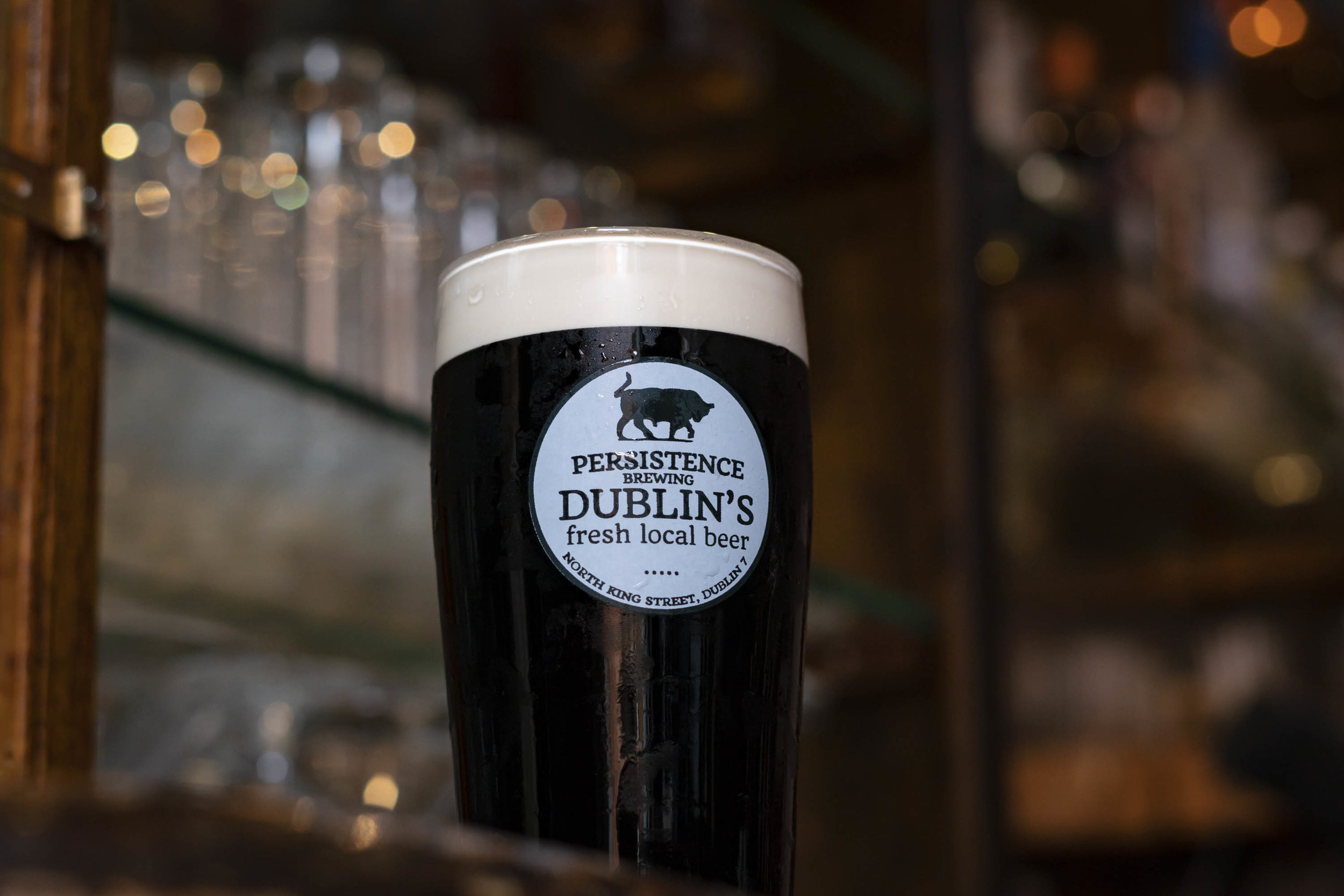 P45 Dublin Stout - abv. 4.5%The authentic taste of traditional Dublin stout. Only quality Irish barley used; roasted, rolled and malted. Brewed with East Kent Golding hops.At 40 IBUs P45 has a medium finish and the great flavour that our grandfathers enjoyed. Unfiltered and unpasteurised.