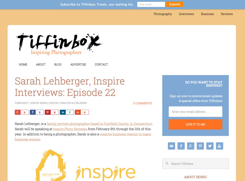 Tiffinbox interview with Sarah Lehberger