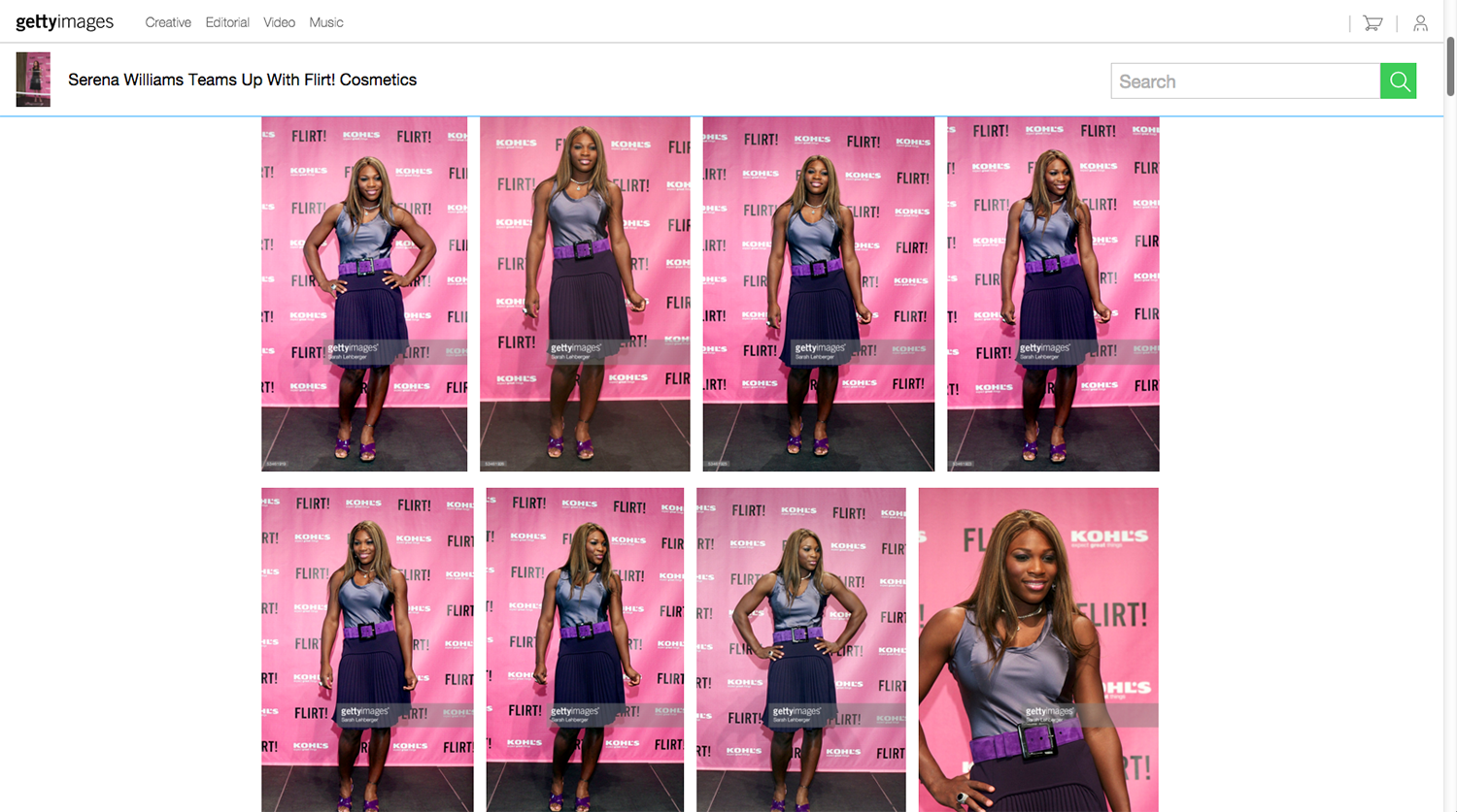 Serena Williams Assignment for Getty Images