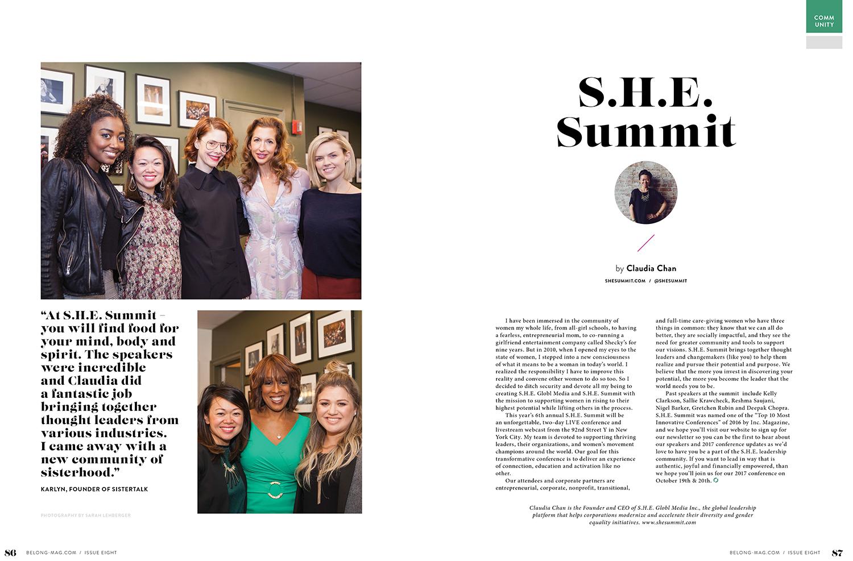 BELONG Magazine feature with photos by Sarah Lehberger