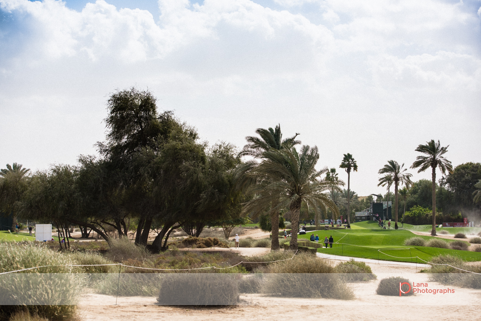 A view of the grounds at the Emirates Golf Course in Dubai during February 2017