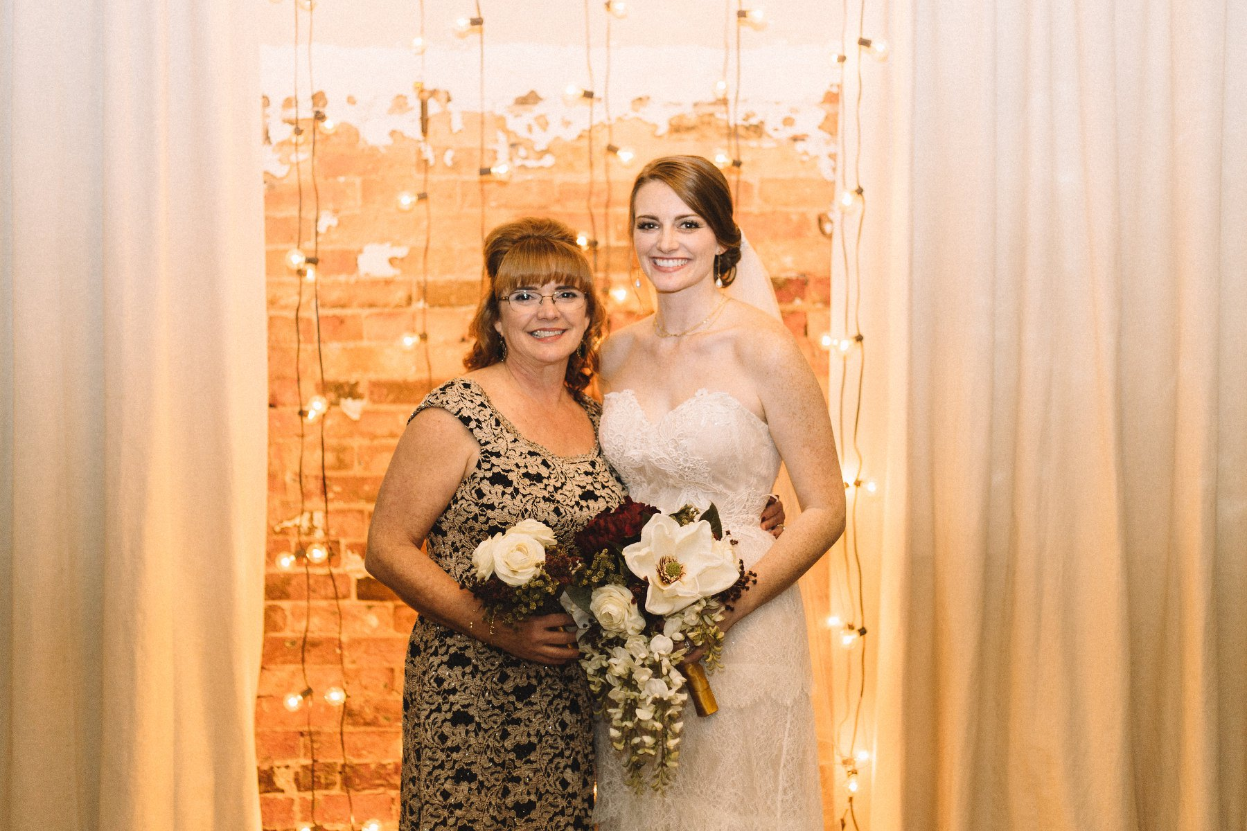 the bride and her mom