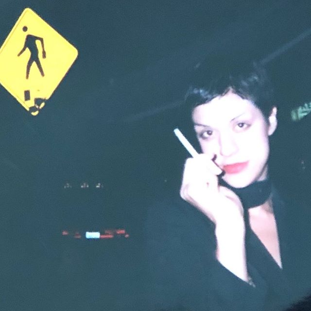 2001 on my way to a party. 🤷🏻‍♀️#tbt (PS. Don't smoke.)
