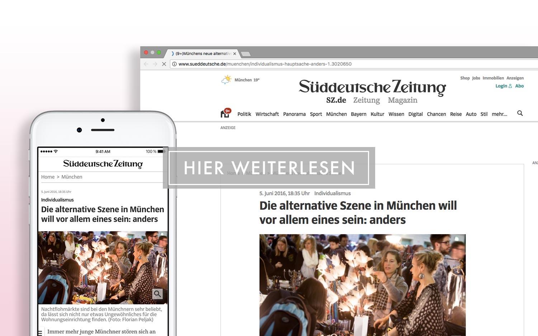 Süddeutsche Zeitung - Die alternative Szene in München will vor allem eines sein: anders