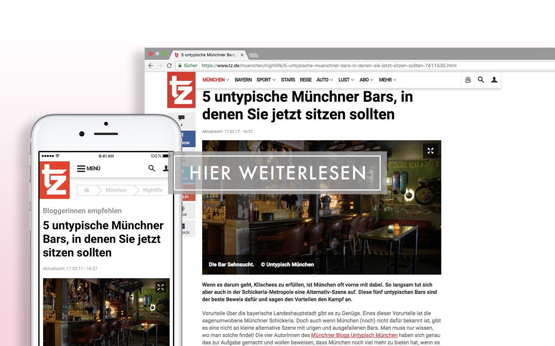 Tageszeitung - 5 untypische Münchner Bars, in denen Sie jetzt sitzen sollten