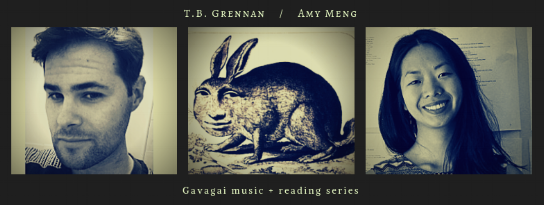 Thurs, October 18th, 2018 @8PM, The Owl:  Amy Meng ,  T.B. Grennan