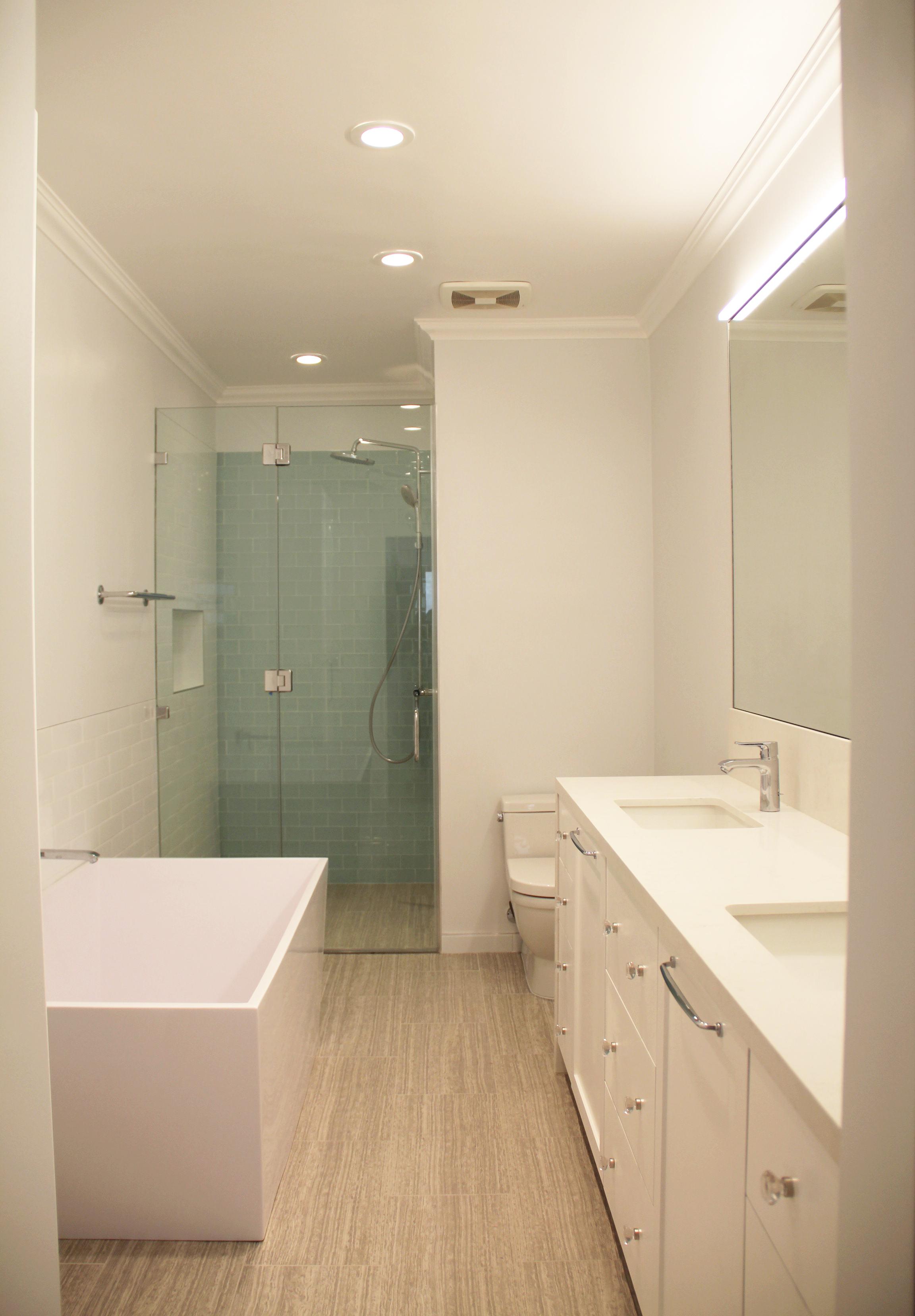Brentwood bright modern master bathroom remodel