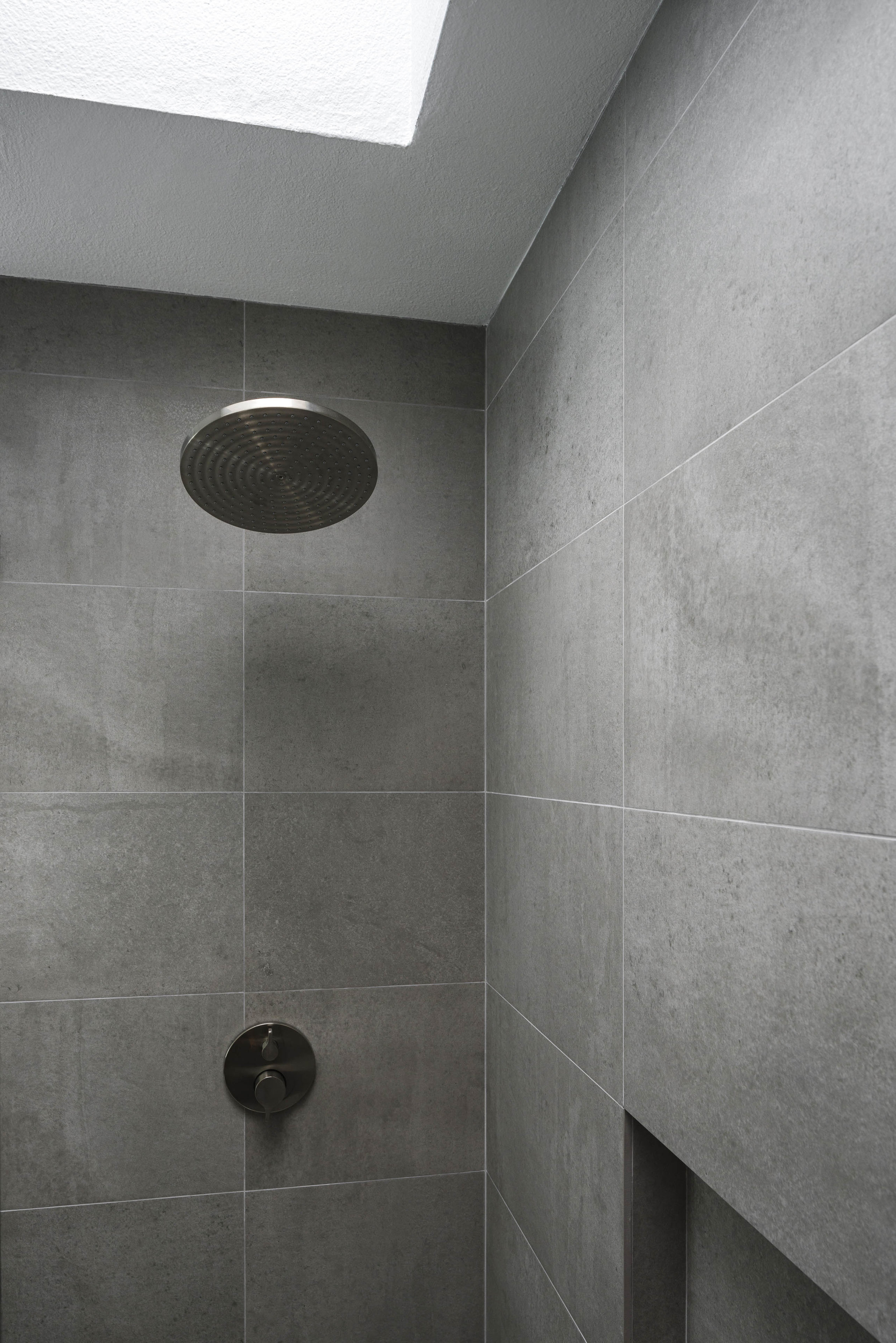 A clean modern shower