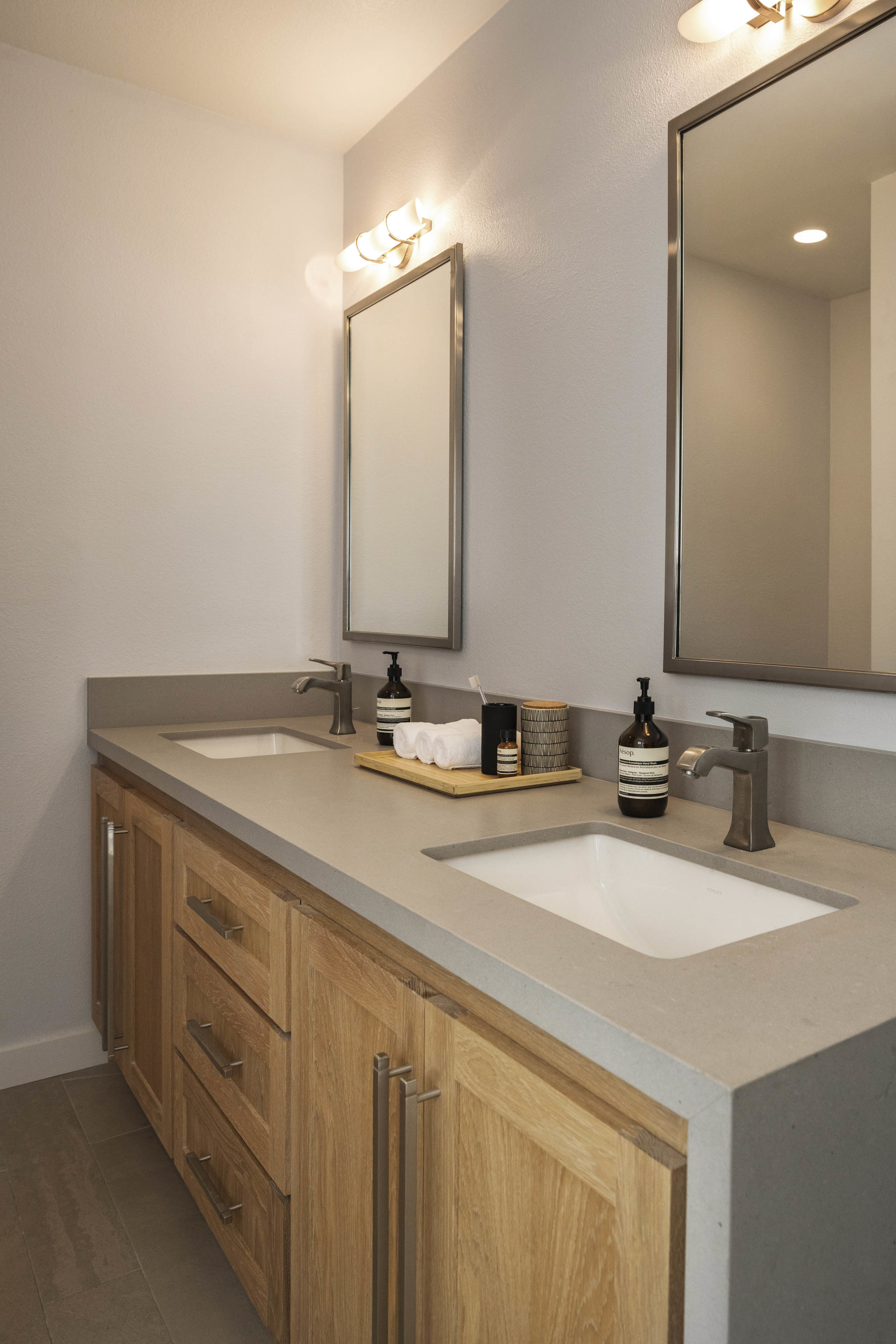 a simple modern guest bathroom remodel