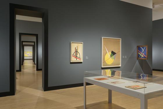 Installation view, Moholy-Nagy: Future Present ,Los Angeles County Museum of Art, February 12–June 18, 2017, art © 2017 Hattula Moholy-Nagy/Artists Rights Society (ARS), New York/VG Bild-Kunst, Bonn, photo © 2017 Museum Associates/LACMA