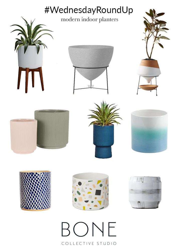 wednesday round up | modern indoor planters | bone collective studio.jpg