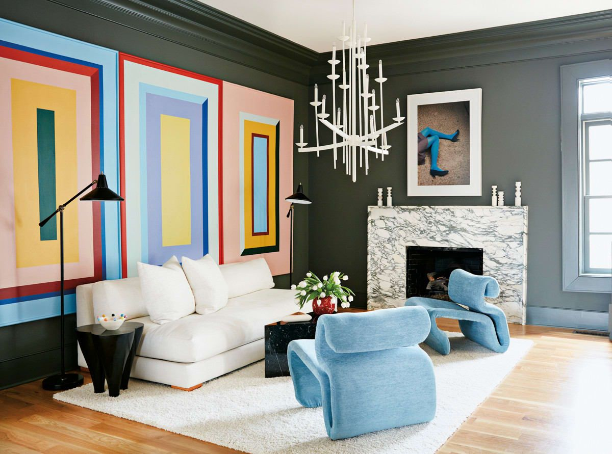 ::  Inspiration Photo  from  Angela Chrucziaki Blehm's  living room - an artist just north of Atlanta.