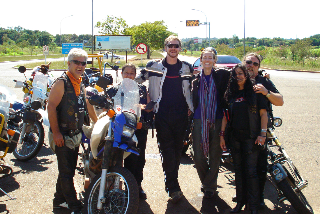 Within minutes of crossing the Brazilian border, a motorcycle gang adopted me.
