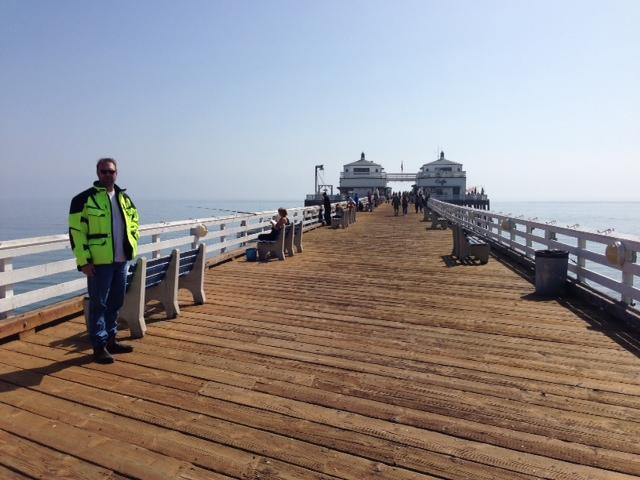 Malibu Pier - John for Scale