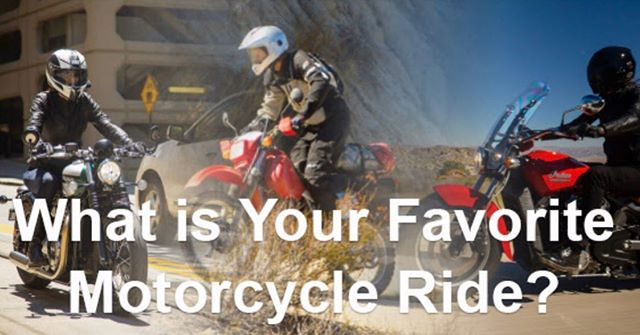 "Answer: Whatever I'm currently riding and as far away from ""normal"" (routine, language, sometimes civilization) as possible. @ama_riding #ama #americanmotorcyclistassociation #motorcycle #ridemore #ridefaraway"