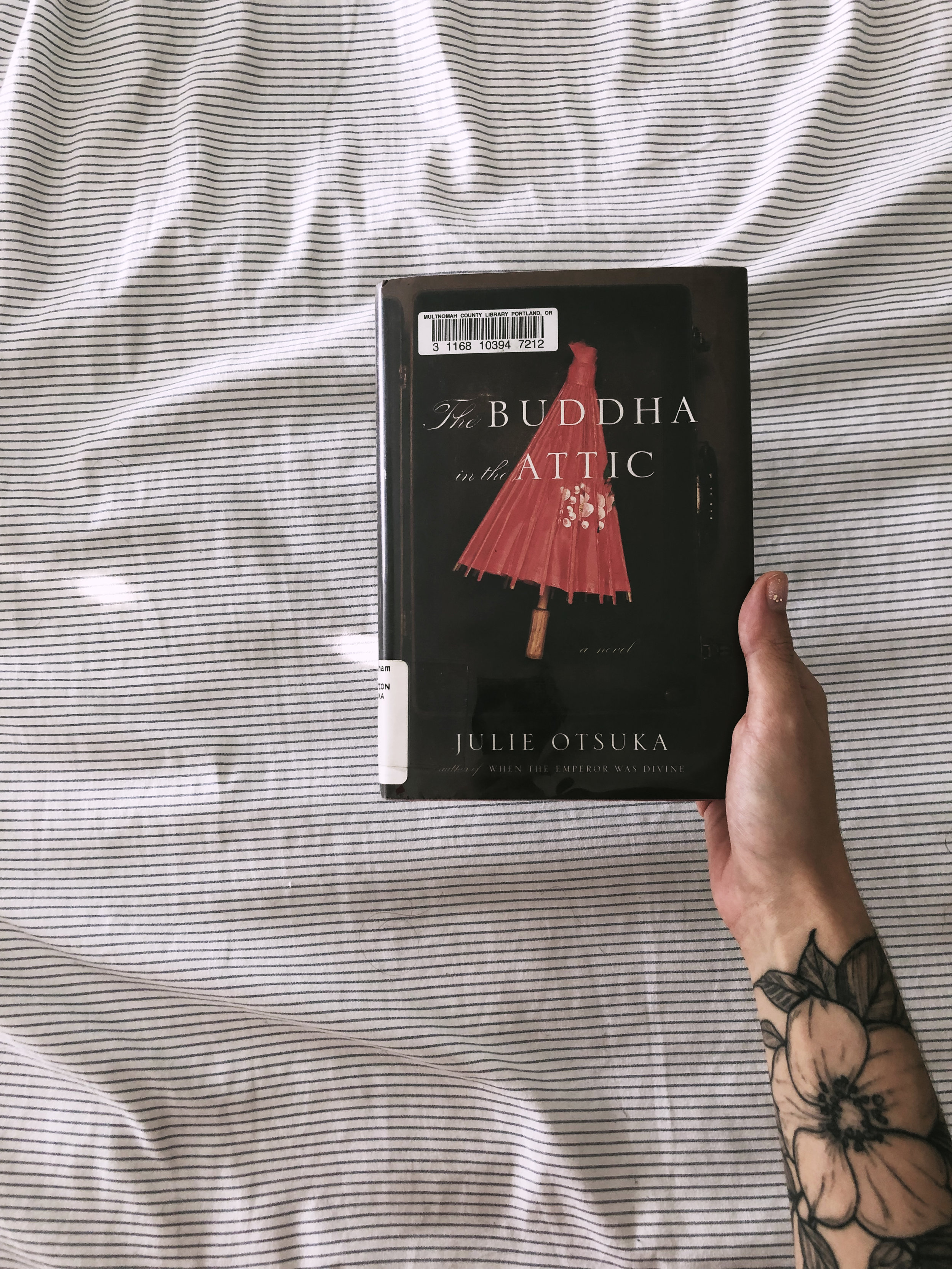 The Buddha in the Attic - by Julie OtsukaWow, this was a work of art. Physically it was a very quick and easy read, emotionally it was tough and really heart wrenching and I feel like I learned so much from reading it. I picked it up randomly as a recommended book from the library and I don't regret it.