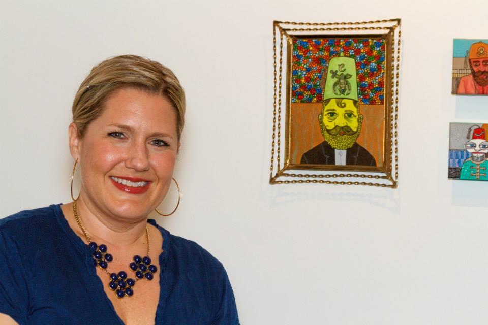 Fez Man painting with Krista Berntsen