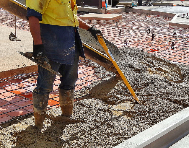 Non-decorative and non-specialized concrete work is treated like a commodity with low price being the prime selling point. Margins, after material and labor, could be as low as a few cents per square foot. Photo by Michael Coghlan via Flikr.