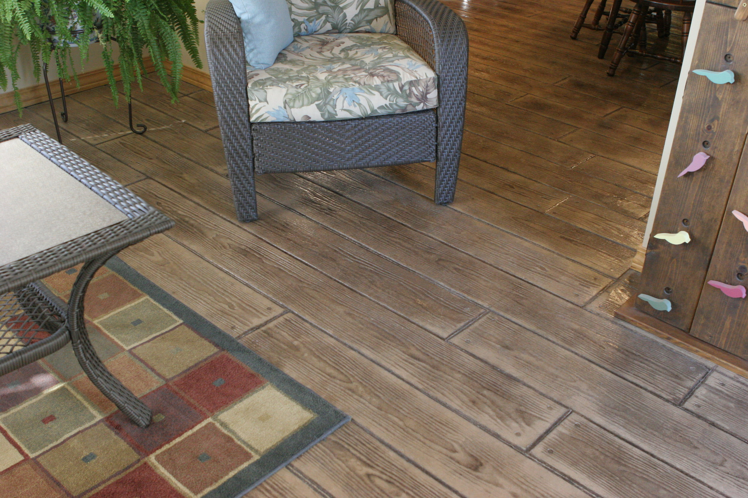 Stamped Concrete Hardwood Flooring