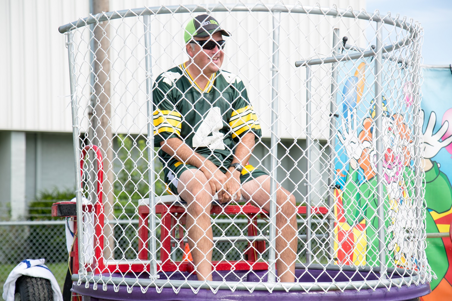 Solomon Colors Sales Manager Keith Nault (Upper Midwest & Dakotas) was one of many who took to the dunk tank to help raise money for Concrete Cares.