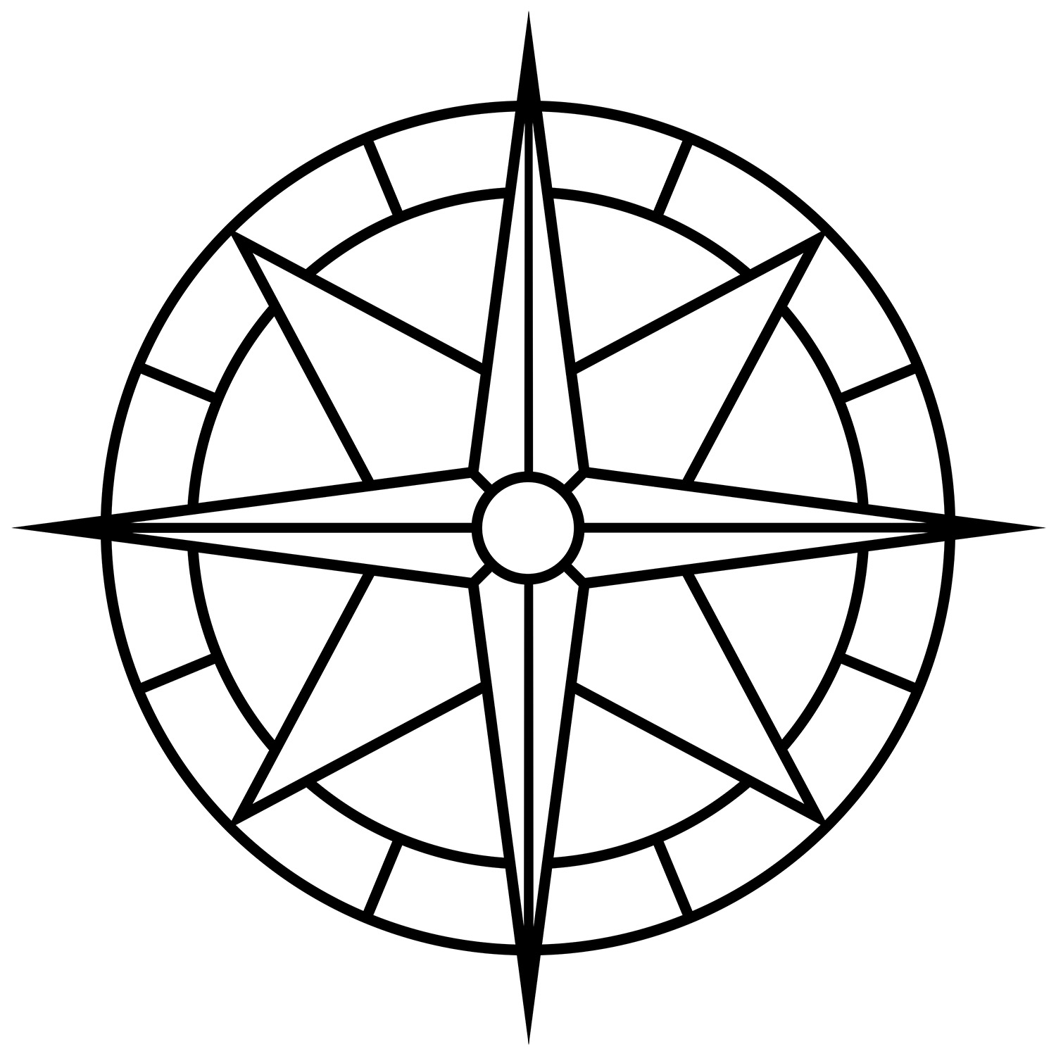 "Compass Rose Wide, CD-1001, 48""x48"""