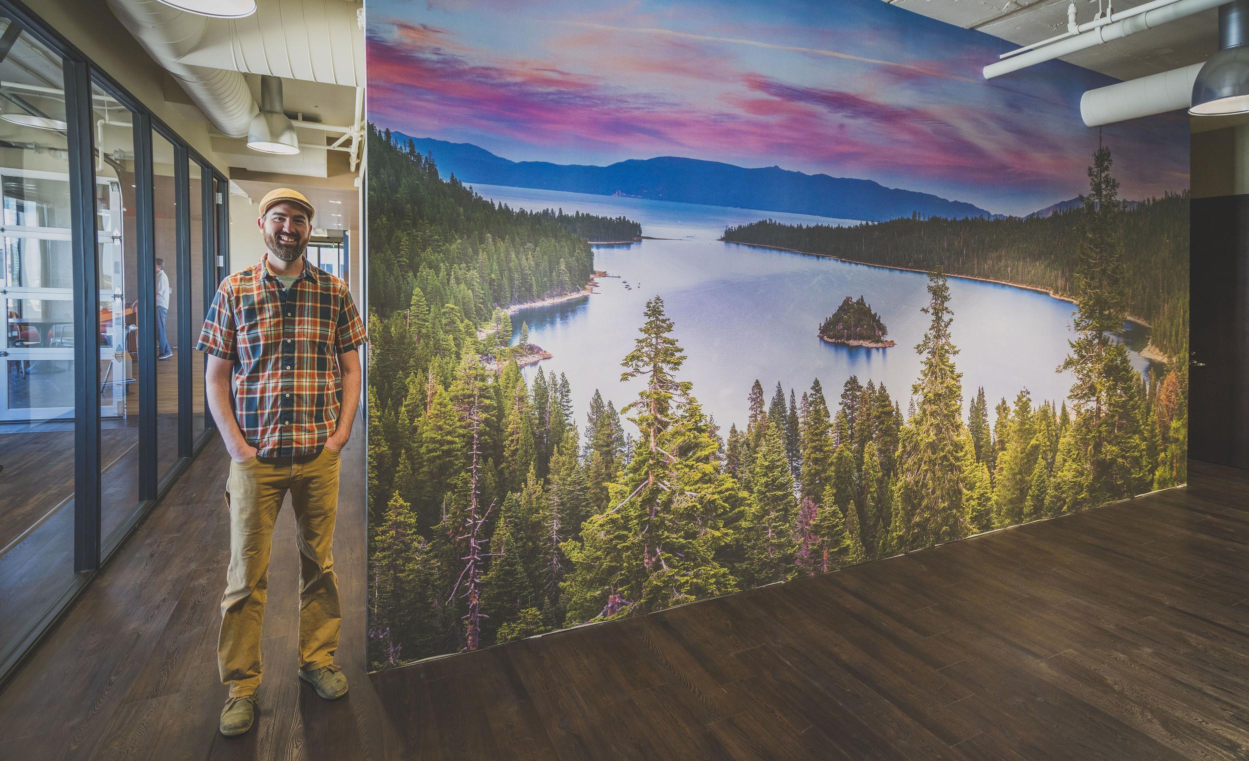 10'x25' installed at Visit California Headquarters in Sacramento.