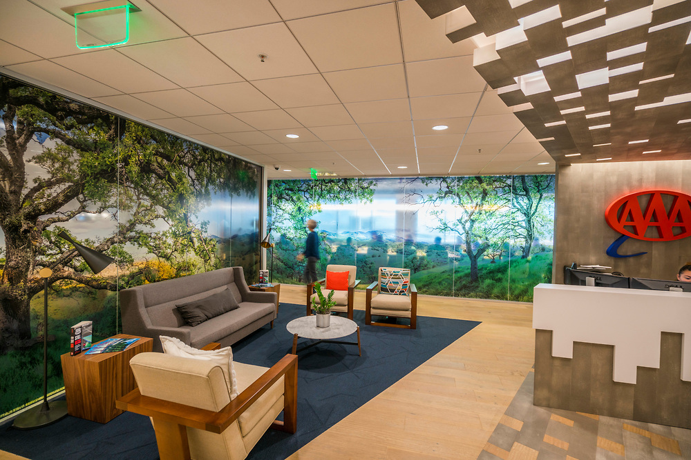 11 of my images were printed on semi-transparent glass 10 feet by up to 48 feet at the new AAA headquarters in Walnut Creek, CA