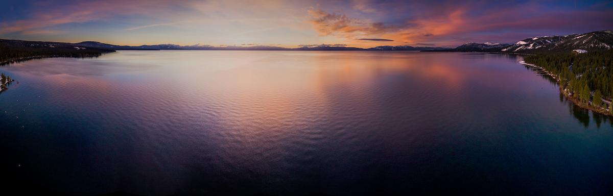 Lake Tahoe Aerial Sunrise