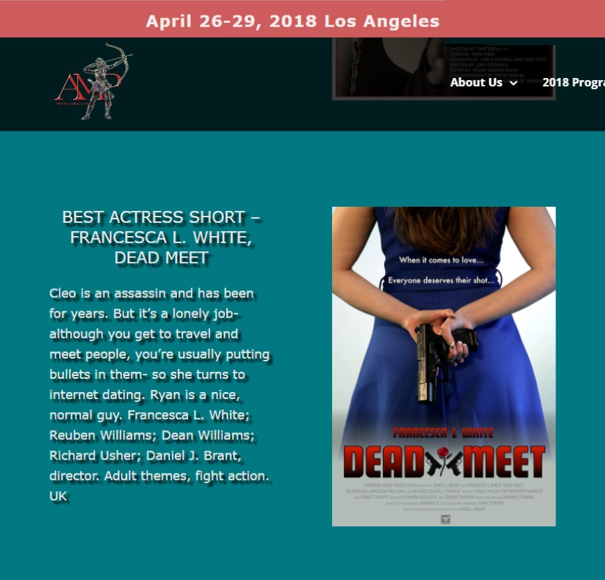 Artemis 'Women In Action' Film Festival Win