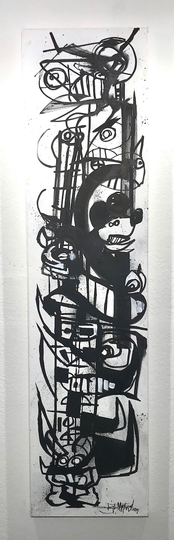 CM's Corner   Joey Feldman   mixed media on canvas  60 x 15 x 1 in  $3750