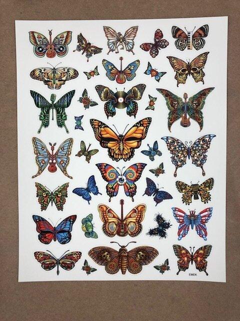 Emek   Dead & Co. Butterfly Sticker Sheet   SOLD OUT ($20)