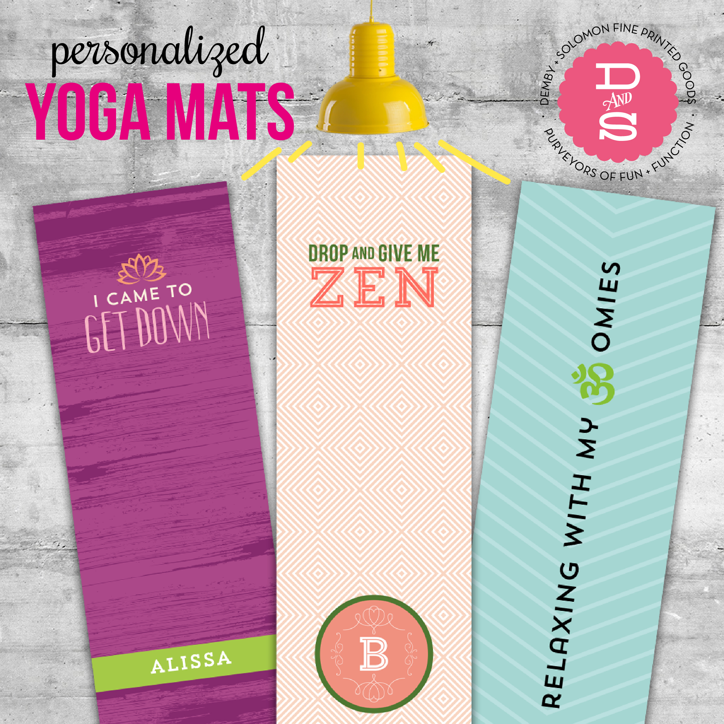 Yoga Mat design and social media promotion