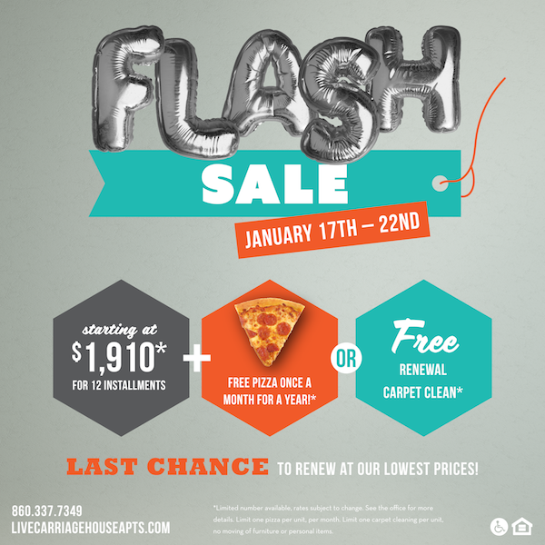 Social media flash sale content
