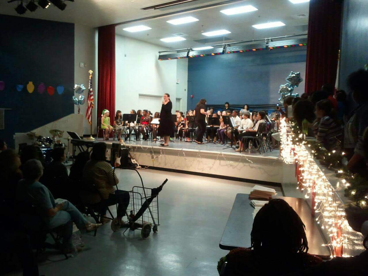 The view from the audience is never the view from backstage. (Winter Concert, circa 2011)