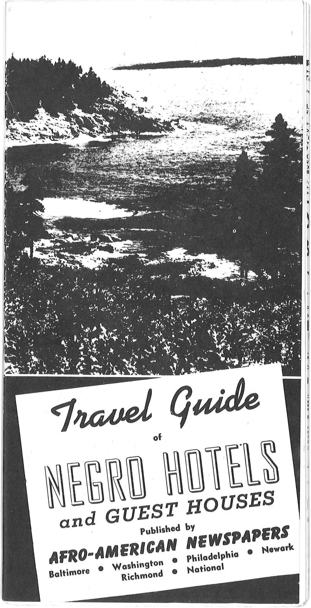 "This image is a copy of publication from 1942, ""Travel Guide of Negro Hotels and Guest Houses.,"" which included an ad for the affiliated Afro Travel Bureau in Baltimore, Maryland."