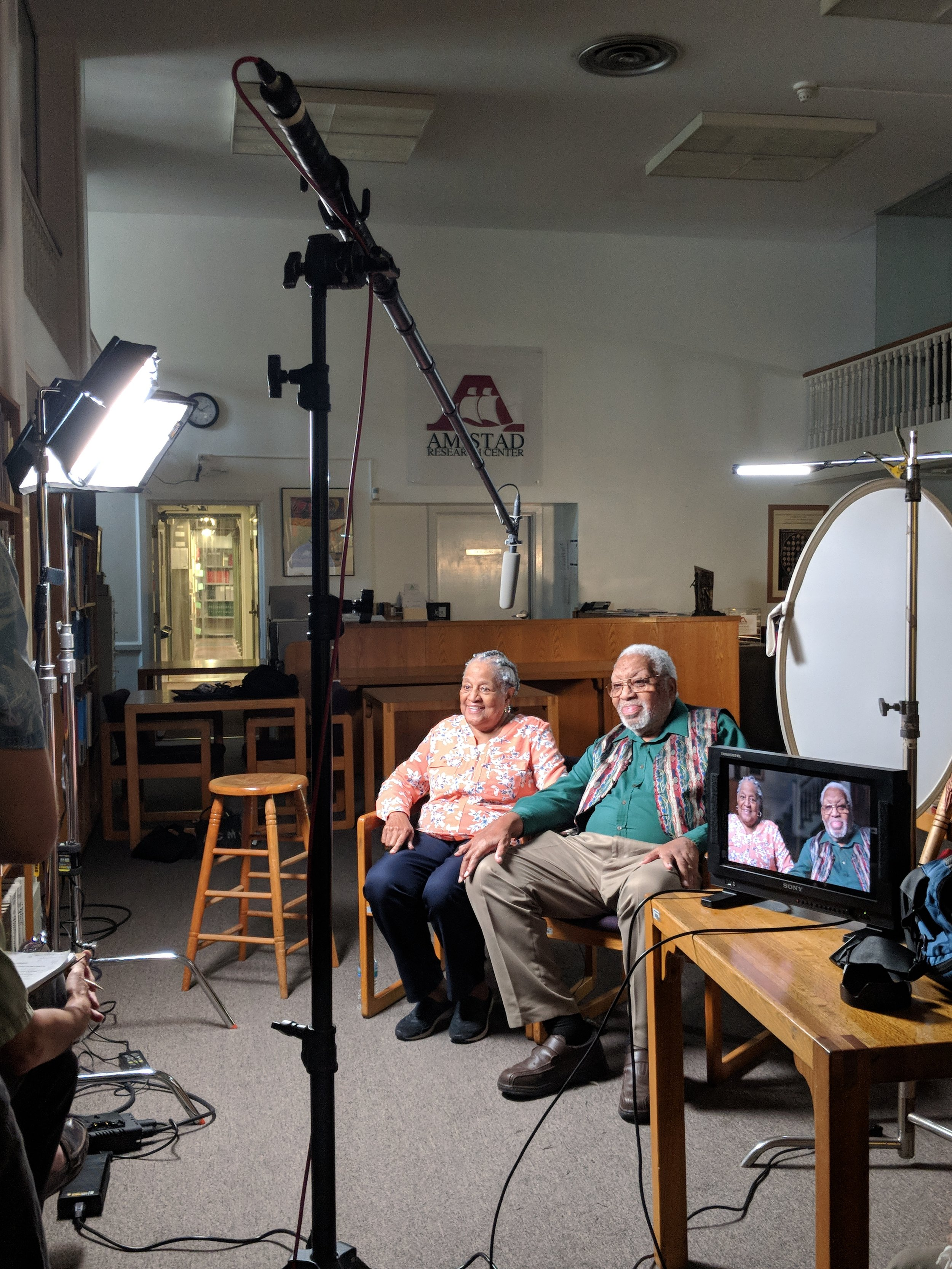 Interview with Yvette and Ellis Marsalis. Photo by Emily Pfeil