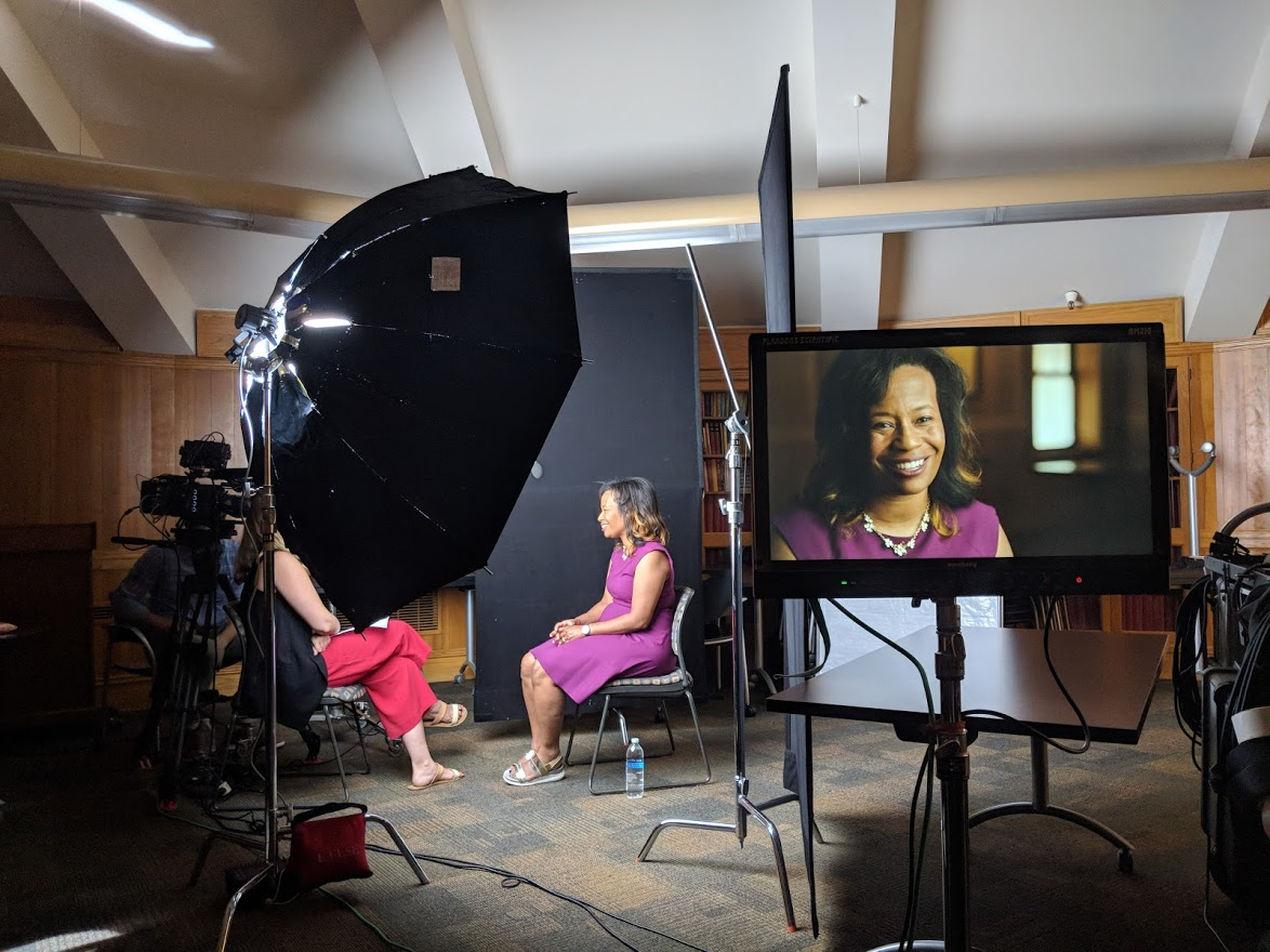Interview with Dr. Allyson Hobbs from Stanford University. Photo by Emily Pfeil