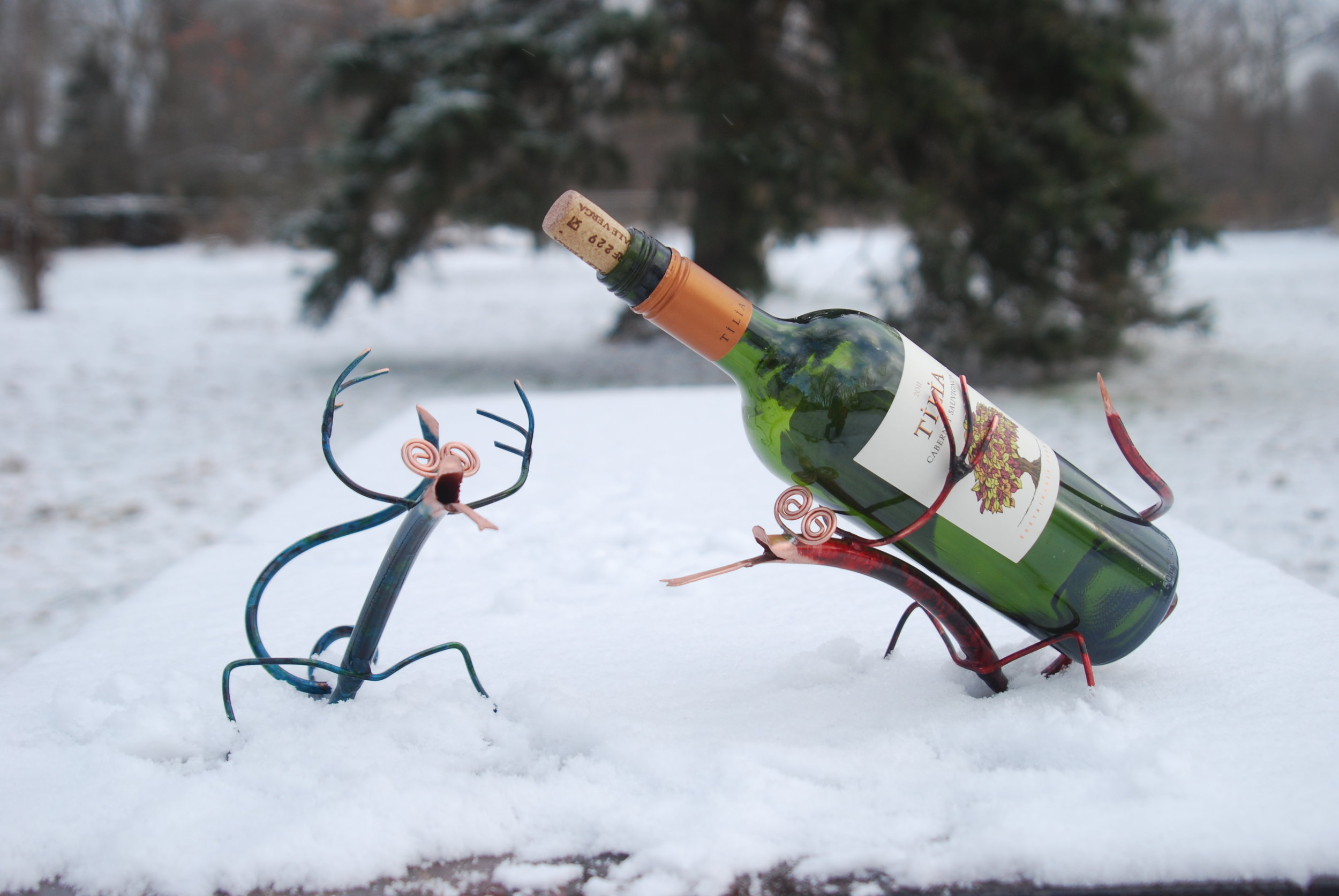 Lizard wine holders