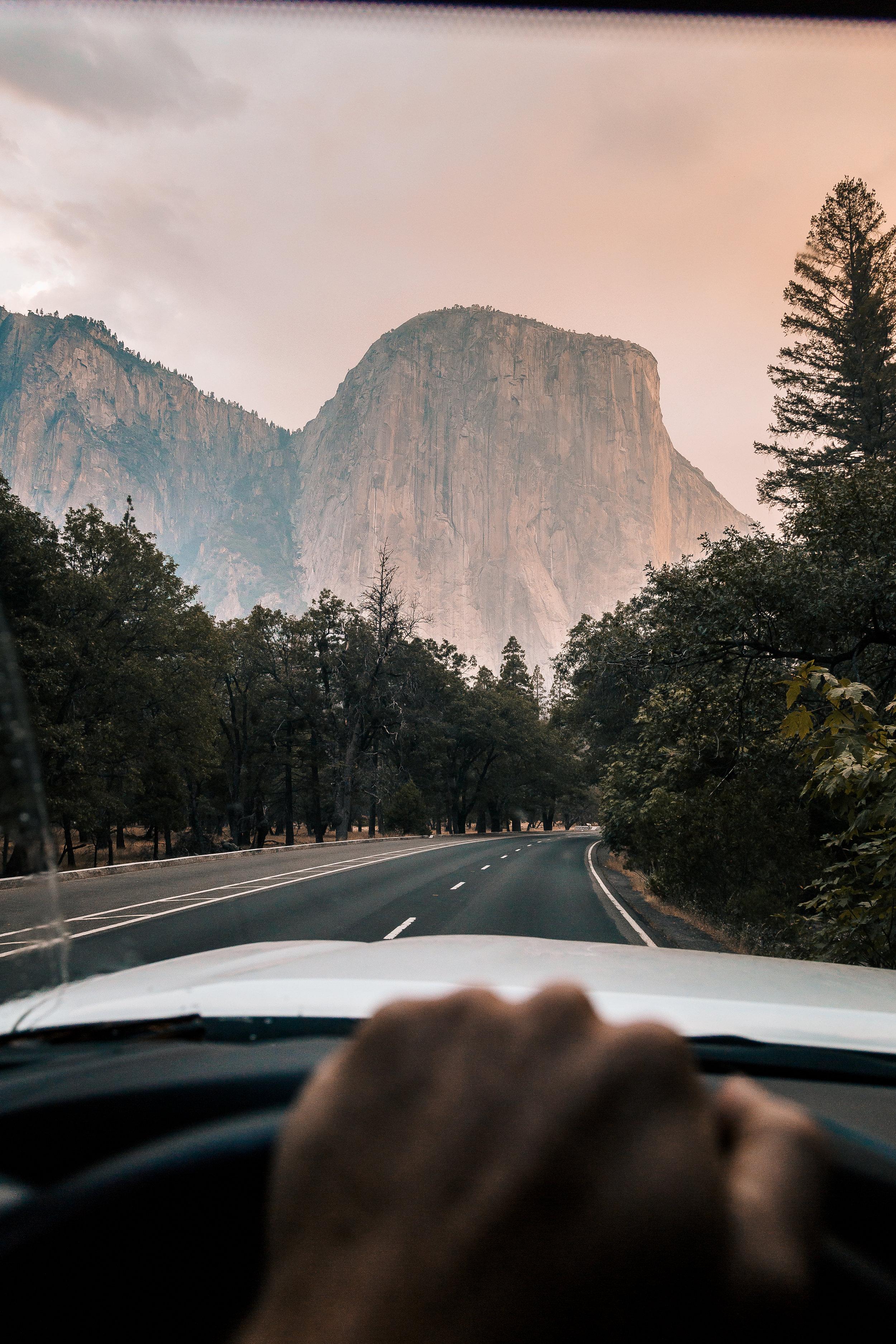 El Cap at the end of the road. Photo: @francisfaroli