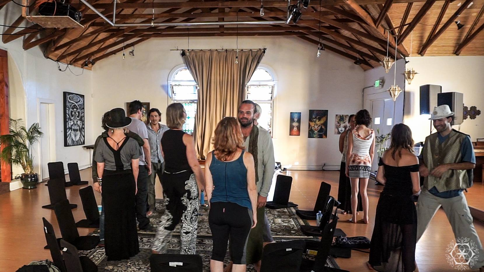 An activation in 2015 for the leadership team and stakeholders at Full Circle in  Venice, CA     Activations facilitate dialog in dynamic ways including mapping, partner work, small groups, panels, interviews etc.
