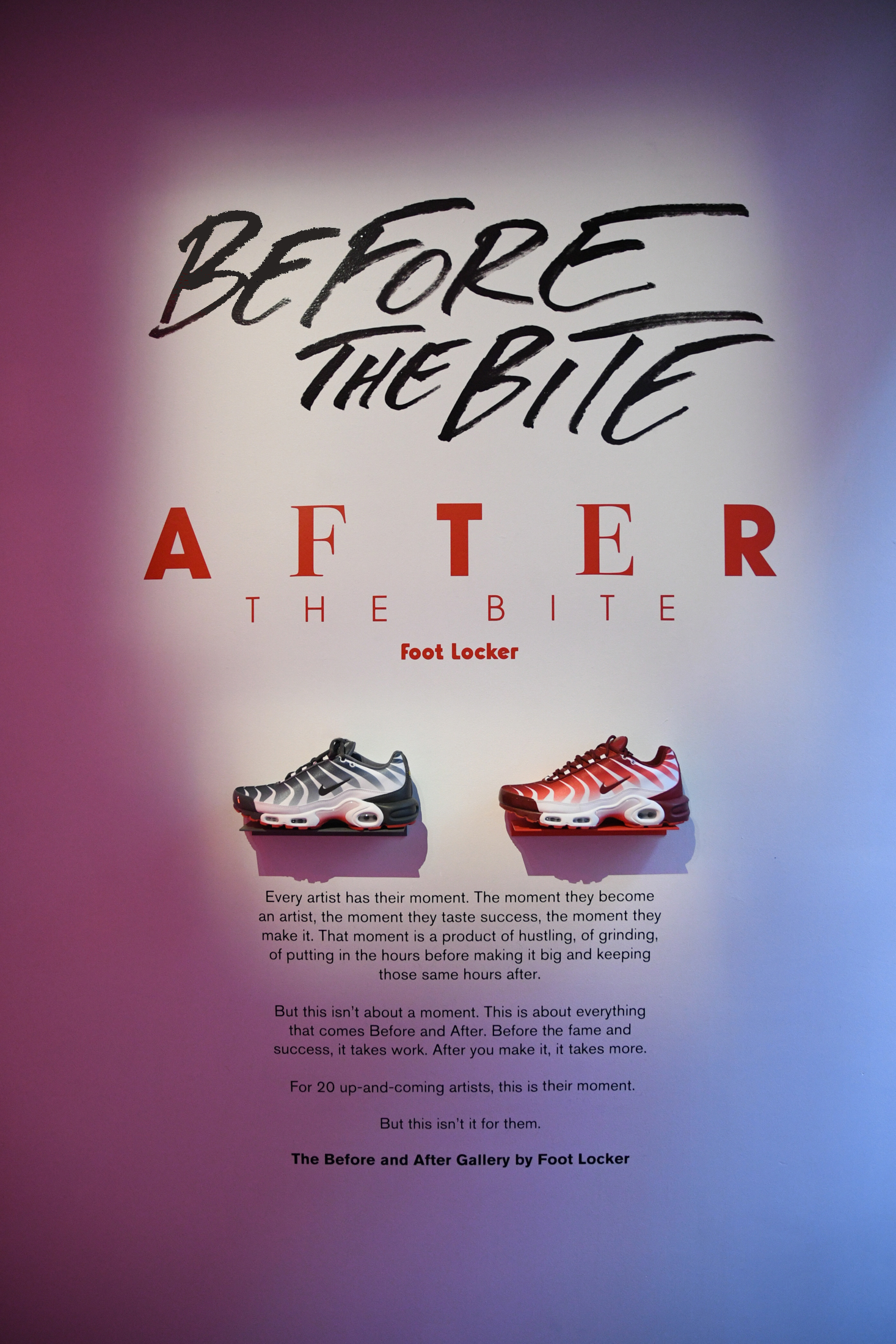 The Before the Bite (left), After the Bite (right), and Gallery manifesto. (Click to enlarge.)