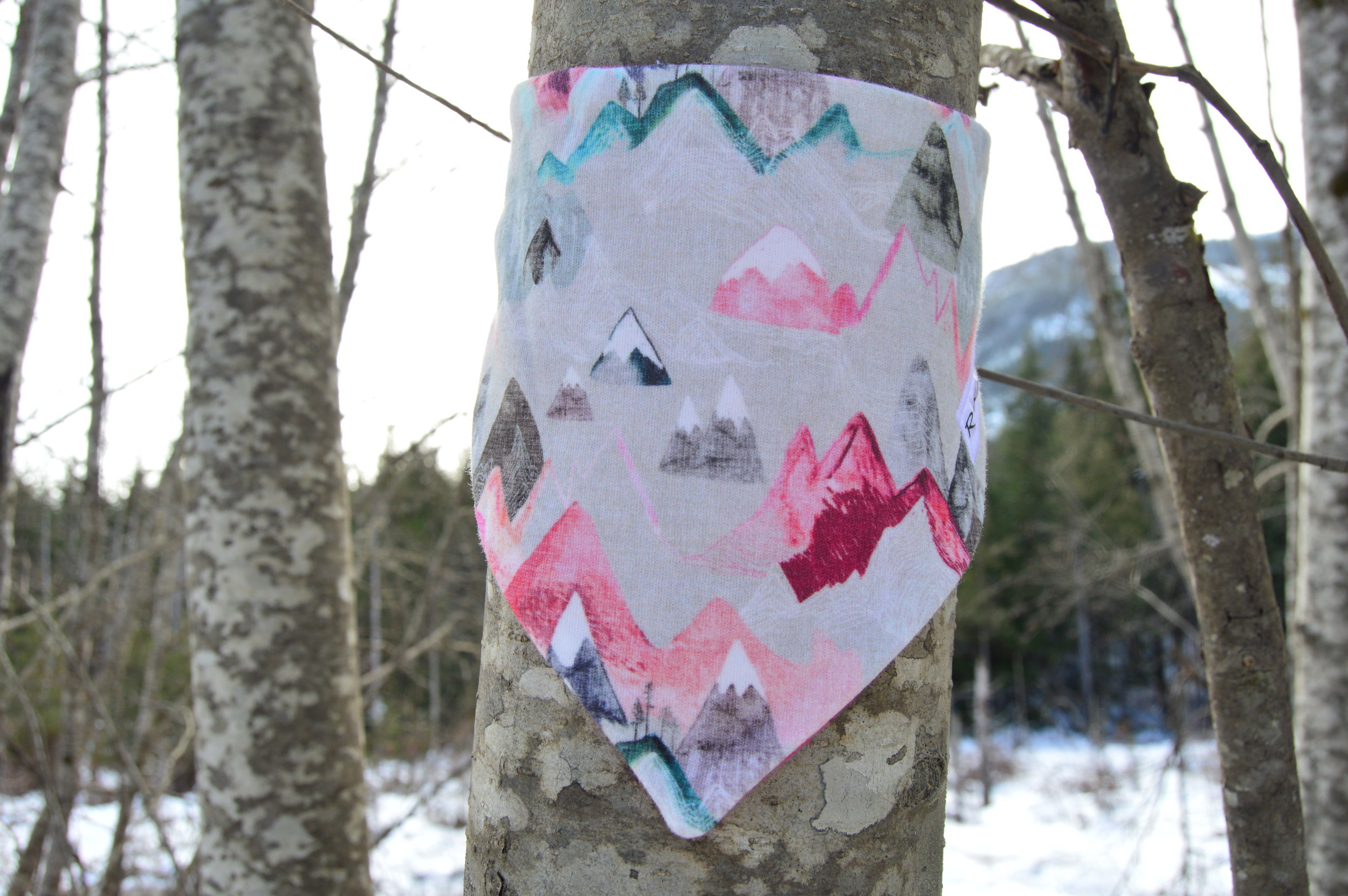 Dare to get dirty - with our water & stain resistant sprayed bandanas