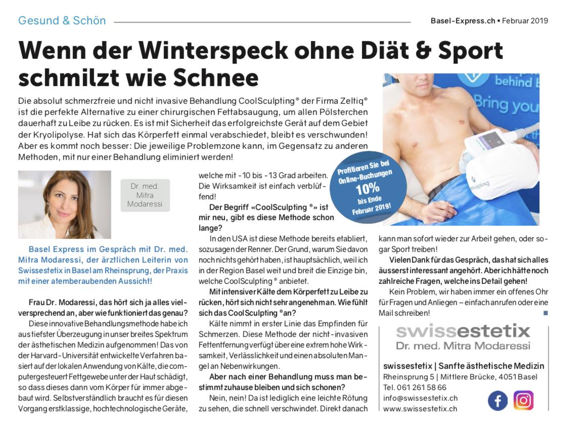 Basel Express im Gespräch mit Dr. med. Mitra Modaressi, der ärztlichen Leiterin von Swissestetix in Basel am Rheinsprung, der Praxis mit einer atemberaubenden Aussicht!