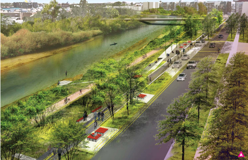 """A mile-long park and an elevated walkway along the South Platte: The latest plans for RiNo Promenade  """"The general idea is to create a series of plazas connected by walking routes. Interesting features could include a steel observation tower that """"gets you up off the ground … so you have some views out over the river and up into the trees,"""" Wethington said.  The project is 'really meant to speak to RiNo, specifically, and a lot of what you see in that area is adaptive reuse.'""""   1/12/2017 Denverite"""