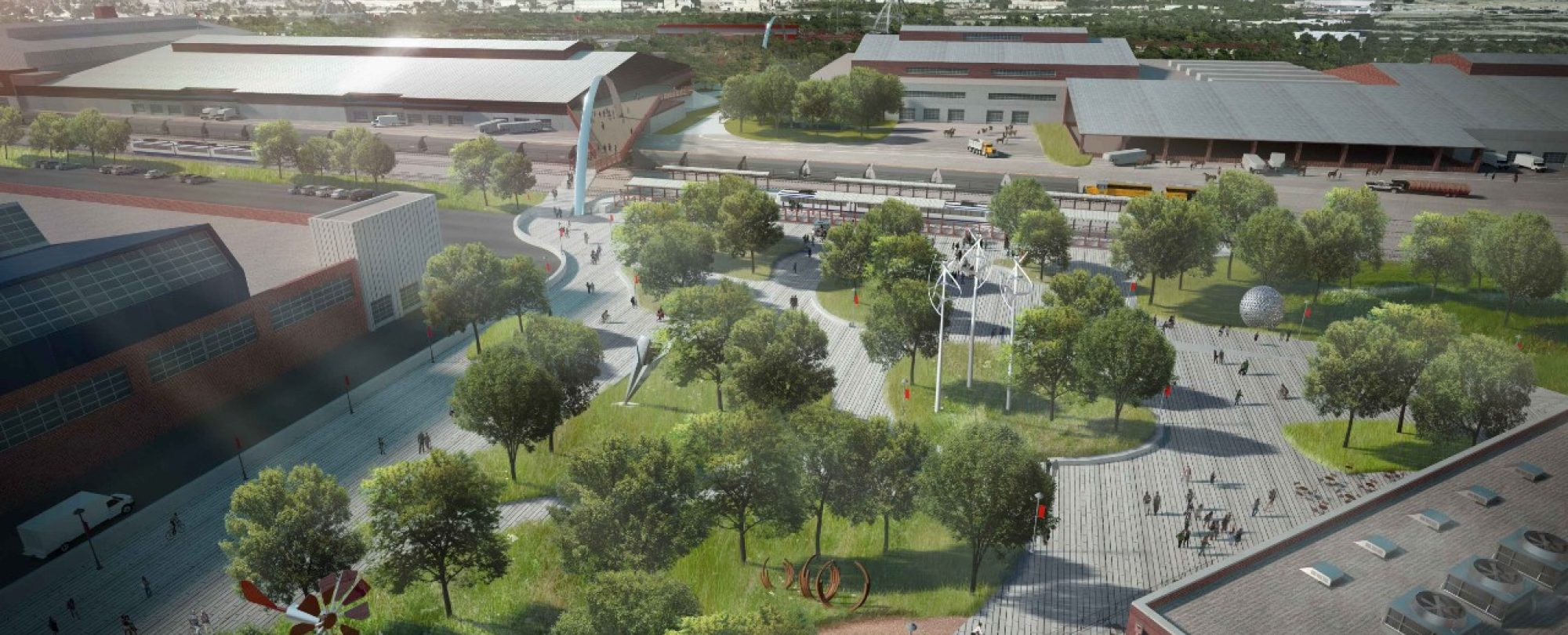 """""""With 250 acres of redeveloped land, the National Western Complex will support Denver's global standing as a world-class hub for agriculture and innovation.""""   -City and County of Denver"""
