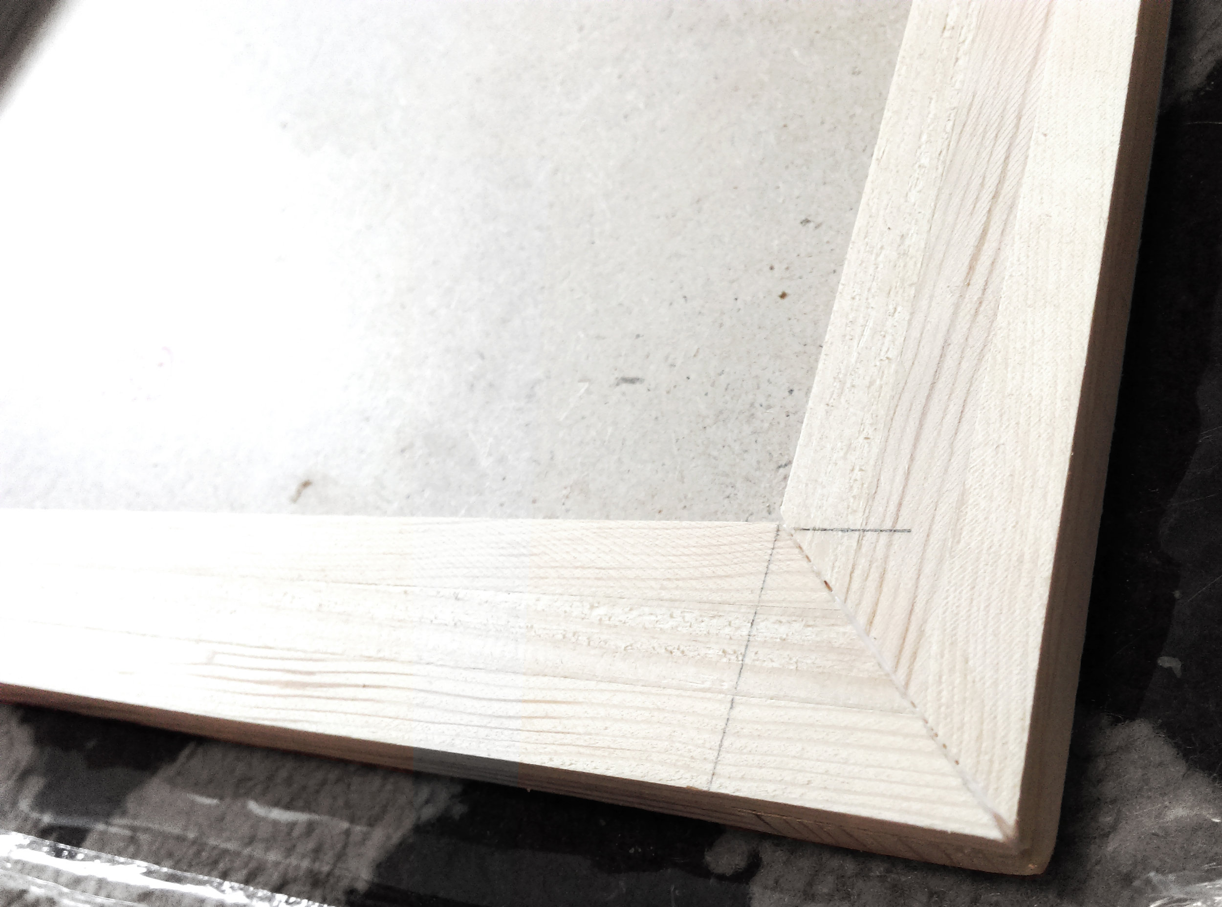 One of the corners, after lots of sanding for precise fitment.