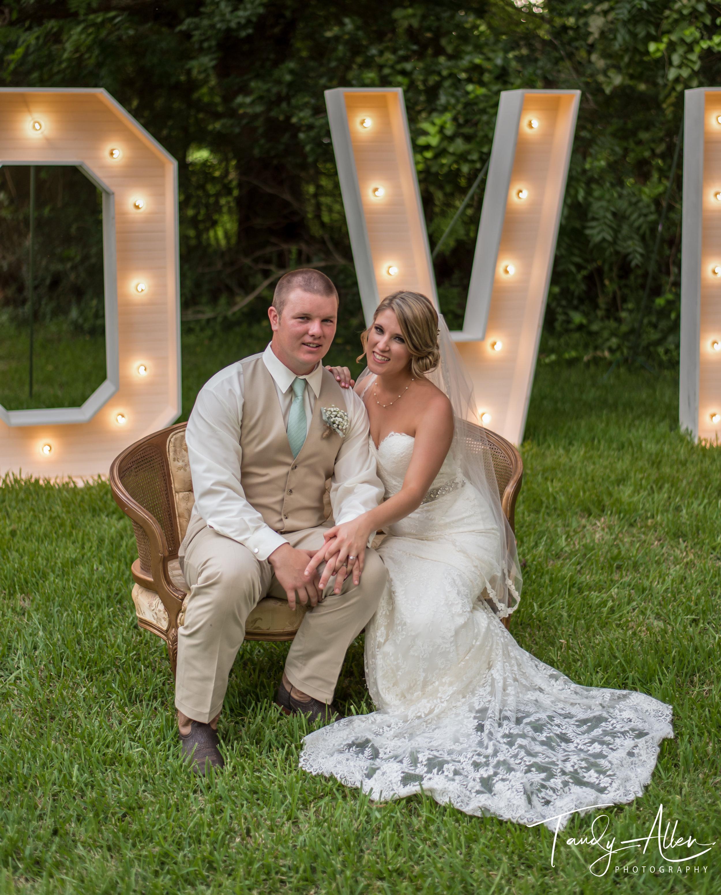 Bride and Groom Reception Photo
