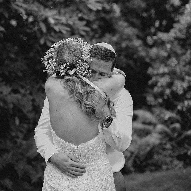The first embrace after the ceremony is always one of my favorite moments on a wedding day.